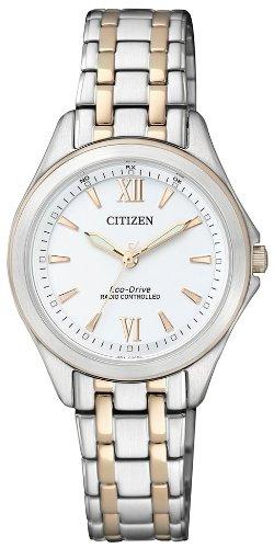 Citizen Damen-Armbanduhr Elegant Analog Quartz Edelstahl ES4024-52A - 1