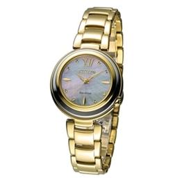 Citizen Damen-Armbanduhr XS Citizen L Analog Quarz Gold EM0336-59D - 1