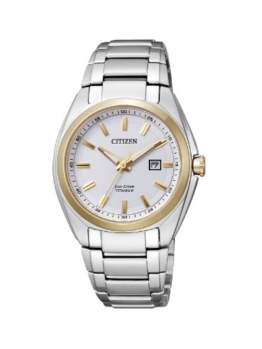 Citizen Damen-Armbanduhr XS Super Titanium Analog Quarz Titan EW2214-52A - 1