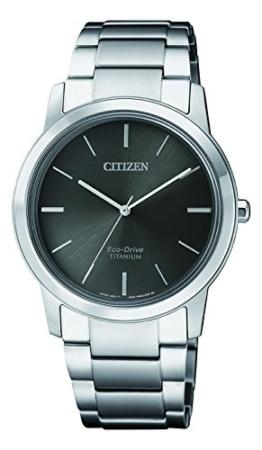 Citizen Damen Chronograph Solar Uhr mit Titan Armband FE7020-85H - 1