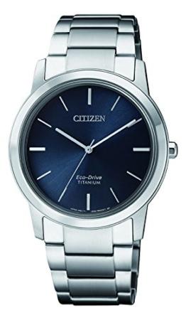 Citizen Damen Chronograph Solar Uhr mit Titan Armband FE7020-85L - 1