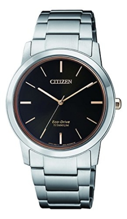 Citizen Damen Chronograph Solar Uhr mit Titan Armband FE7024-84E - 1