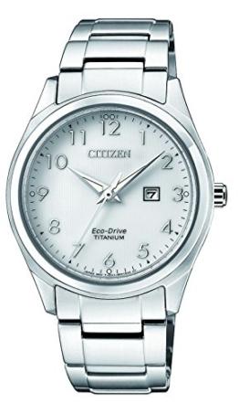 Citizen Damen Datum klassisch Solar Uhr mit Titan Armband EW2470-87A - 1