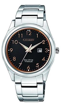 Citizen Damen Datum klassisch Solar Uhr mit Titan Armband EW2470-87F - 1