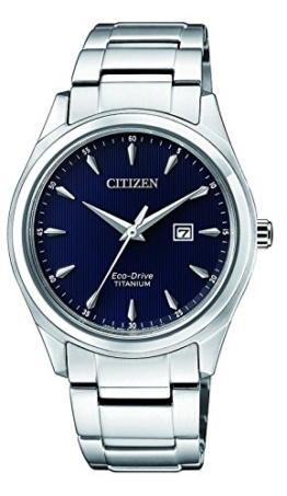 Citizen Damen Datum klassisch Solar Uhr mit Titan Armband EW2470-87L - 1