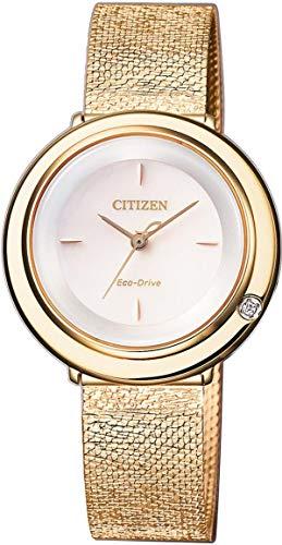 Citizen Eco-Drive Damenarmbanduhr Elegance mit Diamant EM0643-84X - 1