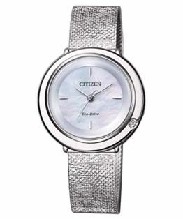 Citizen Eco-Drive Damenuhr Elegance mit Diamant EM0640-82D - 1
