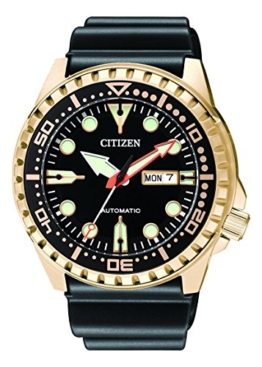 Citizen Herren Analog Automatik Uhr mit Kautschuk Armband NH8383-17EE - 1