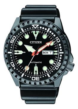 Citizen Herren Analog Automatik Uhr mit Kautschuk Armband NH8385-11EE - 1