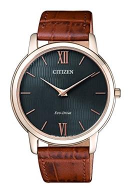 Citizen Herren Analog Quarz Uhr mit Leder Armband AR1133-15H - 1