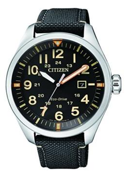 Citizen Herren Analog Quarz Uhr mit Textil Armband AW5000-24E - 1