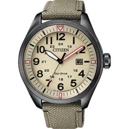 Citizen Herren Analog Quarz Uhr mit Textil Armband AW5005-12X - 1
