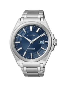 Citizen Herren Analog Quarz Uhr mit Titan Armband BM6930-57M - 1