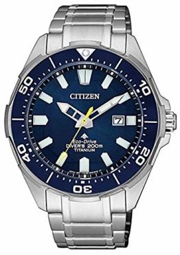 Citizen Herren Analog Quarz Uhr mit Titan Armband BN0201-88L - 1