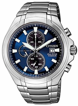 Citizen Herren Analog Quarz Uhr mit Titan Armband CA0700-86L - 1
