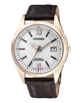 Citizen Herren Analog Solar Uhr mit Leder Armband AS2053-11A - 1