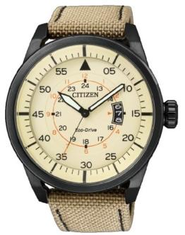 Citizen Herren-Armbanduhr Analog Nylon Quarz AW1365-19P - 1