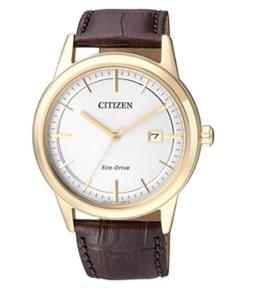 Citizen Herren-Armbanduhr Analog Quarz Leder AW1233-01A - 1