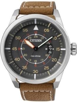 Citizen Herren-Armbanduhr Analog Quarz Leder AW1360-12H - 1
