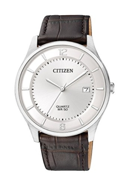 Citizen Herren-Armbanduhr Analog Quarz One Size, weiß, braun - 1