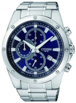 Citizen Herren-Armbanduhr Chronograph Quarz Edelstahl AN3530-52L - 1