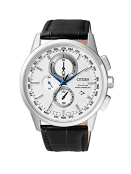 Citizen Herren-Armbanduhr Radio Controlled Chronograph Quarz Leder AT8110-11A - 1