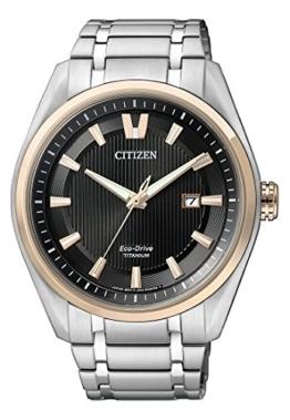 Citizen Herren-Armbanduhr Sports Analog Quarz, eco-Drive (One Size, schwarz) - 1