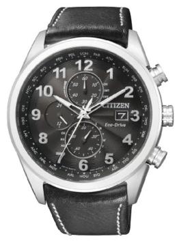 Citizen Herren-Armbanduhr XL Analog Quarz Leder AT8011-04E - 1