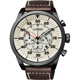 Citizen Herren-Armbanduhr XL Chronograph Quarz Leder CA4215-04W - 1