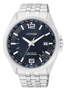 Citizen Herren-Armbanduhr XL Funkuhren Analog Quarz Edelstahl CB0010-88L - 1