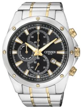 Citizen Herren Chronograph Quarz Uhr mit Edelstahl Armband AN3534-51E - 1