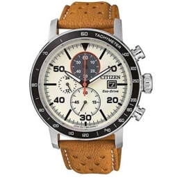 Citizen Herren Chronograph Quarz Uhr mit Leder Armband CA0641-16X - 1