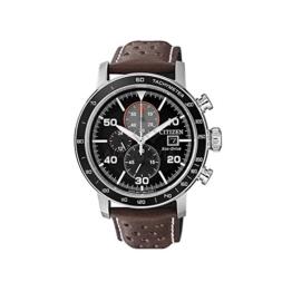 Citizen Herren Chronograph Quarz Uhr mit Leder Armband CA0641-24E - 1