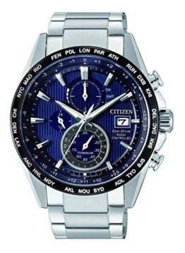 Citizen Herren Chronograph Solar Uhr mit Titan Armband AT8154-82L - 1