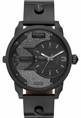 Diesel Damen-Armbanduhr Analog Quarz One Size, schwarz, schwarz - 1