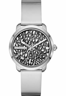 Diesel Damen-Armbanduhr Analog Quarz One Size, silberfarben, Silber - 1