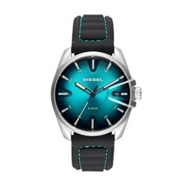 Diesel Herren Analog Quarz Smart Watch Armbanduhr mit Silikon Armband DZ1861 - 1