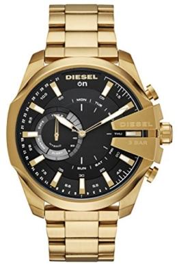 Diesel Herren Analog Quarz Uhr mit Edelstahl Armband DZT1013 - 1