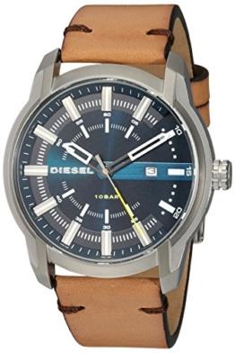 Diesel Herren Analog Quarz Uhr mit Leder Armband DZ1847 - 1