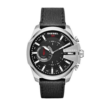 Diesel Herren Analog Quarz Uhr mit Leder Armband DZT1010 - 1