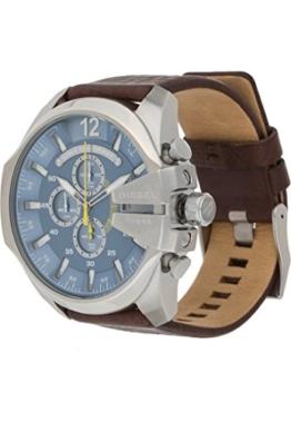 Diesel Herren-Armbanduhr Analog Quarz One Size, blau, braun - 1
