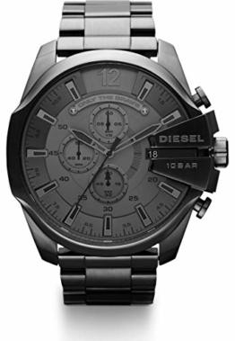 Diesel Herren-Armbanduhr Analog Quarz One Size, grau, grau - 1