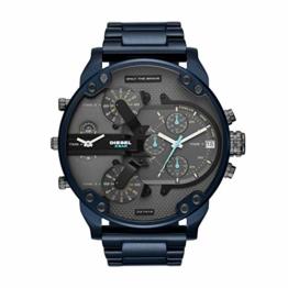 Diesel Herren Chronograph Quarz Uhr mit Edelstahl Armband DZ7414 - 1