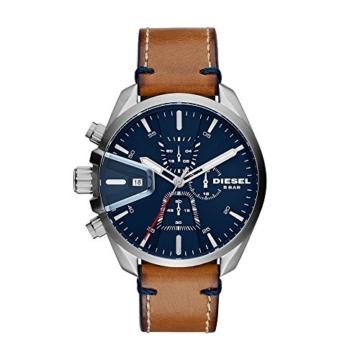 Diesel Herren Chronograph Quarz Uhr mit Leder Armband DZ4470 - 1