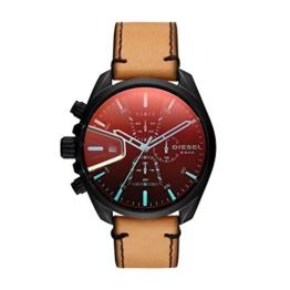 Diesel Herren Chronograph Quarz Uhr mit Leder Armband DZ4471 - 1
