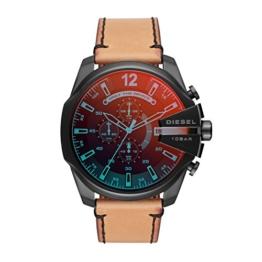 Diesel Herren Chronograph Quarz Uhr mit Leder Armband DZ4476 - 1