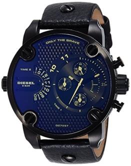 Diesel Herren Chronograph Quarz Uhr mit Leder Armband DZ7257 - 1