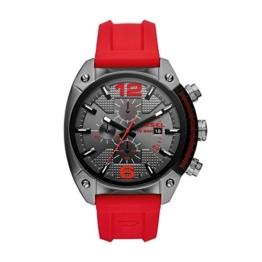 Diesel Herren Chronograph Quarz Uhr mit Silikon Armband DZ4481 - 1