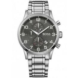 Hugo Boss Herren-Armbanduhr 44mm Armband Edelstahl + Gehäuse Batterie 1513181 - 1