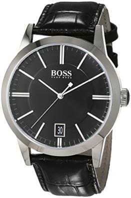 Hugo Boss Herren-Armbanduhr Analog Quarz Leder 1513129 - 1